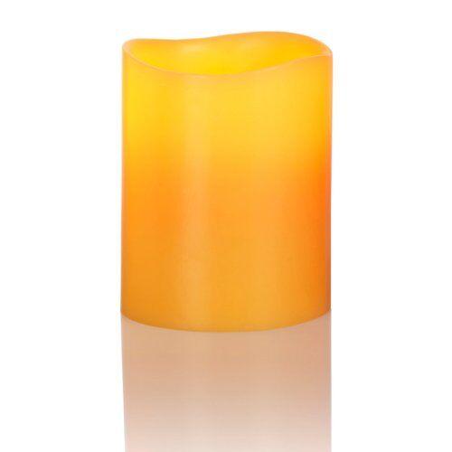 Liown LED echte waskaars op batterijen, maat M, bijenwas
