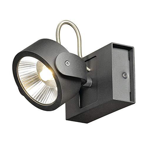 SLV Wand- en plafondarmaturen Kalu/plafond- en wandverlichting binnen, LED-spot, opbouwlamp, wandopbouwlamp, plafondspot/3000 K 17,0 W 1000 lm zwart dimbaar