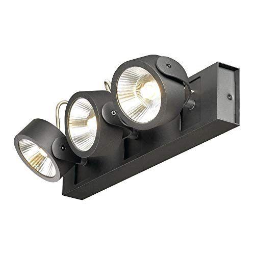SLV Wand- en plafondarmaturen Kalu/plafond- en wandverlichting binnen, LED-spot, opbouwlamp, wandopbouwlamp, plafondspot/3000 K 47,0 W 3000 lm zwart dimbaar