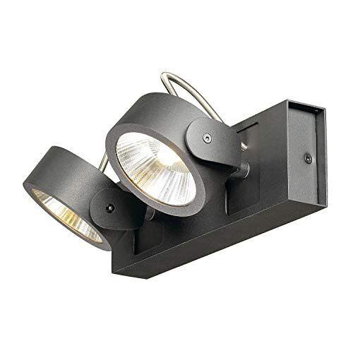 SLV Wand- en plafondarmaturen Kalu/plafond- en wandverlichting binnen, LED-spot, opbouwlamp, wandopbouwlamp, plafondspot/3000 K 31,0 W 2000 lm zwart dimbaar
