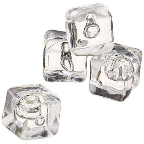 drinkstuff Decoratieve ijsblokjes van acryl, ca. 40 stuks plastic ijsblokjes voor decoratie, tentoonstelling en foto's.