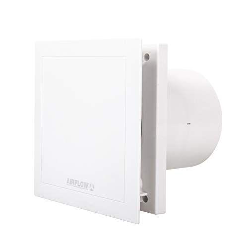 Airflow QT100HT 9041261 Afzuigventilator, geluidsarm, activering door vocht of door middel van een timer, 2 snelheden, 100 mm