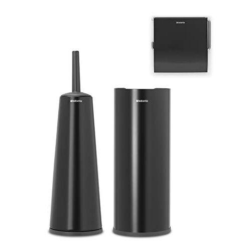 Brabantia ReNew Toiletaccessoires, set van 3 Matt Black