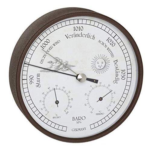 TFA Dostmann Weerstation Analoog, Voor Binnen En Buiten, Barometer, Hygrometer, Thermometer, Weerbestendig, Bruin, L 160 x B 46 x H 160 mm