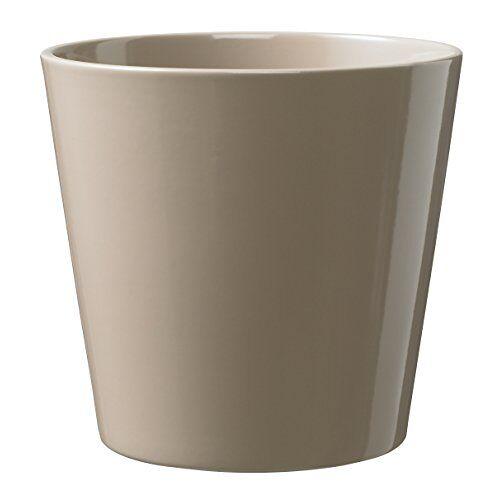 Soendgen Keramik Soendgen keramiek bloempot, Dallas Style 21 x 21 x 21 cm taupe