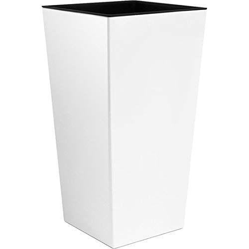 Prosper Plast S maat White URBI 32 cm hoge plastic bloempot met binnenvoering, 7 kleuren