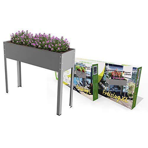 """Bio Green Metalen verhoogd bloembed Freising-XL"""", antraciet, 100 x 30 x 80 cm, MHF-XL voor balkon & terras"""