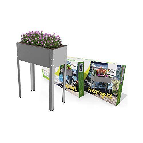 """Bio Green Metalen verhoogde plantenbak Freising-L"""", antraciet, 60 x 30 x 80 cm, MHF-L voor balkon & terras"""
