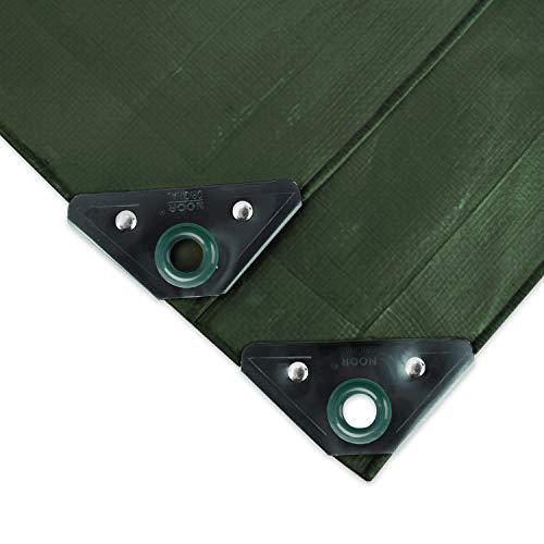 Noor Dekzeildoek, 200 g/m², 3.00 x 3.00 m, Kleur: groen, PP/PE