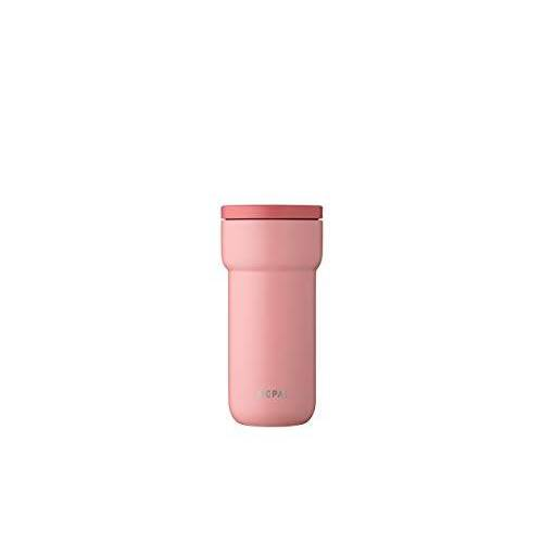 Mepal Ellipse 375 ml Nordic pink – koffie-to-go thermosbeker – lekvrij – thermobeker roestvrij staal – past in vrijwel alle bekerhouders