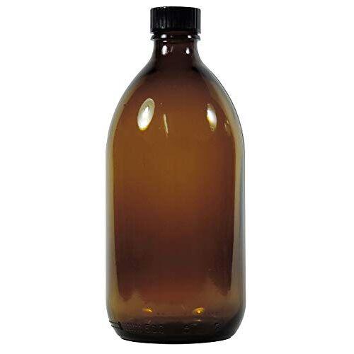 Viva Haushaltswaren Viva huishoudelijke artikelen apothekersfles, medicijn-/bruine glazen fles inculsief een beschrijfbaar etiket