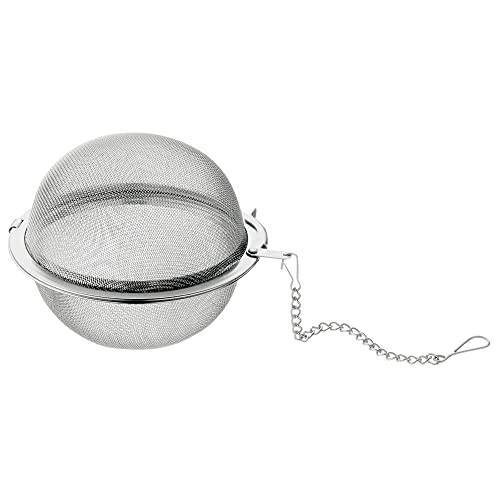 WMF Gourmet theezeef, 6,5 cm, theekogel met ketting, theeei, kruidenzeef, specerijen, Cromargan roestvrij staal, gepolijst, vaatwasmachinebestendig