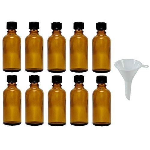Viva Haushaltswaren Viva-Haushaltswaren 10 druppelflessen 10 ml / apothekersflessen met druppelinzet in bruin glas