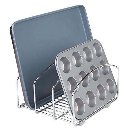 iDesign InterDesign Classico Keuken Kookgerei Organizer Voor Snijplanken En Koekje/Bakplaten, 20.32cm, Chroom
