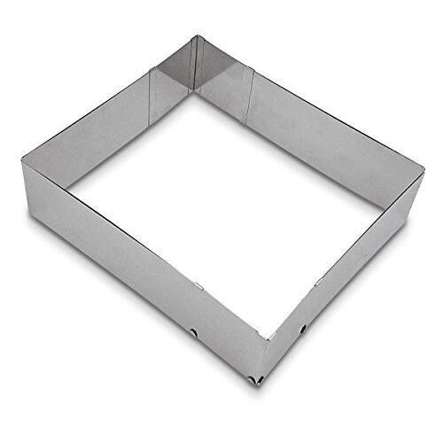 Städter Bakrand, roestvrij staal, zilver, 25-50 x 22-41 x 7 cm