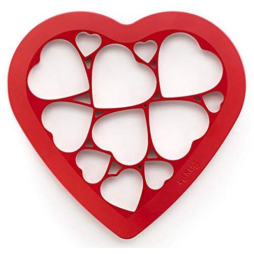 Lékué Koekjessnijder Puzzel harten, kunststof, kleurrijk, 24x26x8 cm