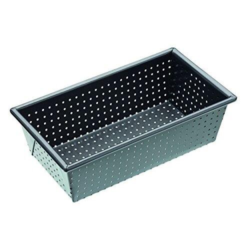 KitchenCraft MasterClass Crusty Bake 1,9 kg geperforeerd broodblikje met PFOA-vrije antiaanbaklaag, robuust 1 mm koolstofstaal, 21 x 11 x 7 cm dooszijdig broodpan