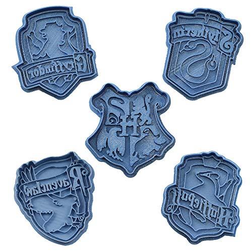Cuticuter Hogwarts Harry Potter Pak koekjessnijder, blauw, 16 x 14 x 1,5 cm, 5 stuks