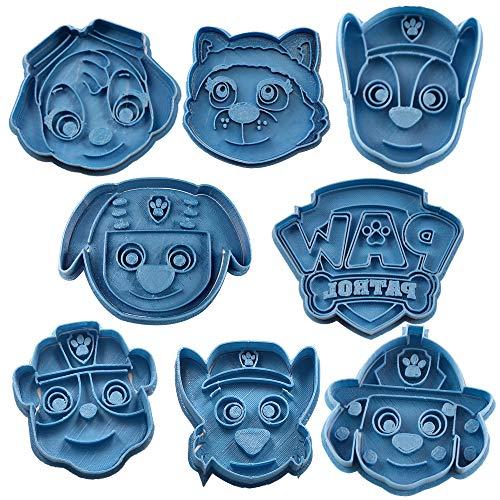 Cuticuter Paw Patrol Koekjessnijder, blauw, 16 x 14 x 1,5 cm, 8 stuks