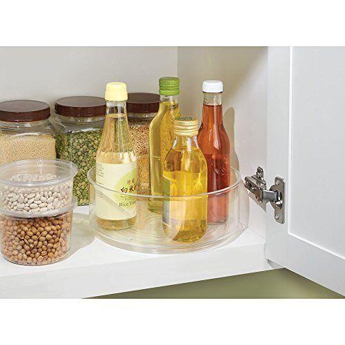 iDesign Kabinet/Keuken Binz Draaitafel, kleine kast organizer van kunststof, doorzichtig