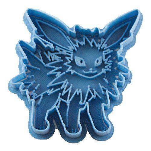 Cuticuter Jolteon Pokémon koekjessnijder, blauw, 8 x 7 x 1,5 cm
