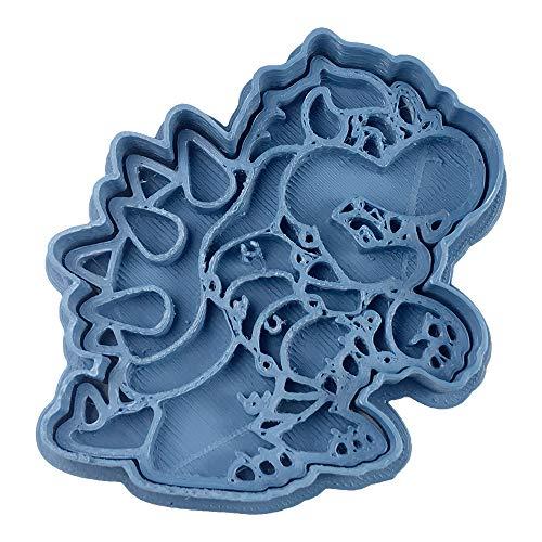 Cuticuter Bowser Mario Bros uitsteekvorm, blauw, 8 x 7 x 1,5 cm