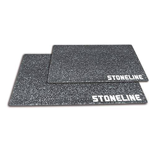 STONELINE Glazen snijplank, 2-delig