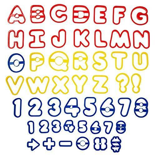 Wilton Alfabet en cijfers koekjessnijder, roestvrij staal, multicolour, 17,78 x 17,78 x 27,97 cm