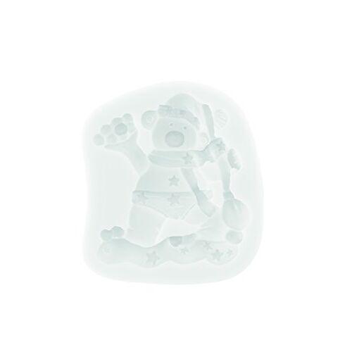 silikomart 71.496.00.0096 bakvorm voor cake SLK396 ijsbeer wit, siliconen, wit