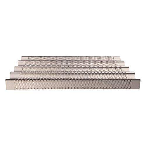 Pentole Agnelli Gastro norm Bakplaten en pannen, afmeting 53 x 32,5 x 6 cm, kleur-zilver, One Size