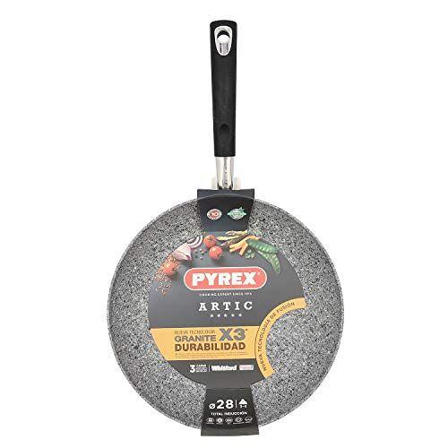 Pyrex Aluminium pan   28 cm   inductie   drievoudige antiaanbaklaag graniet   hoge duurzaamheid