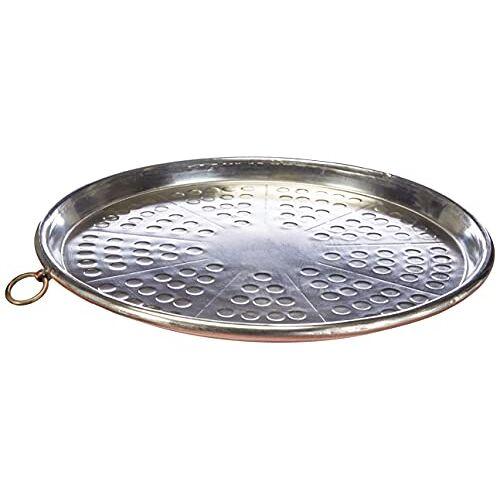 Pentole Agnelli COCU43/334 blik koper conisch bakblik met velg, hoogte 2 cm, diameter 34 cm