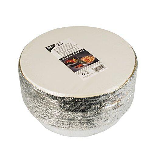 PAPSTAR Aluminium schalen, aluminium, zilver, 12 x 23 x 23 cm