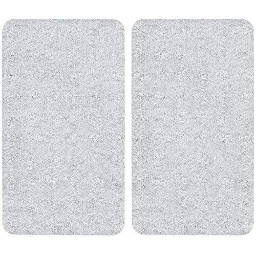Wenko fornuisafdekplaat, universeel, set van 2, kookplaatafdekking en snijplank voor alle soorten fornuizen, gehard glas, 30 x 1,8-5,5 x 52 cm Universal transparant