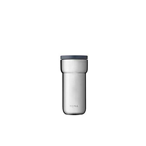 Mepal Ellipse Thermobeker, 375 ml, geborsteld, koffie-to-go-thermosbeker, lekvrij, roestvrij staal, past in vrijwel alle bekerhouders