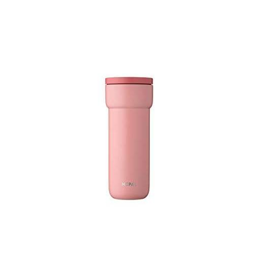 Mepal Ellipse 475 ml Nordic pink – koffie-to-go thermosbeker – lekvrij – thermobeker van roestvrij staal – past in vrijwel alle bekerhouders