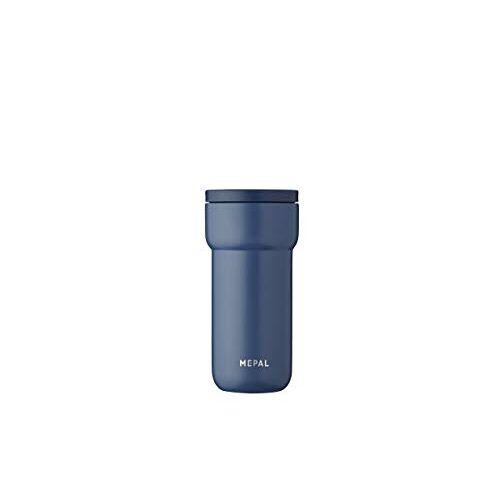 Mepal Ellipse 375 ml Nordic Denim – koffie-to-go thermosbeker – lekvrij – thermobeker roestvrij staal – past in vrijwel alle bekerhouders