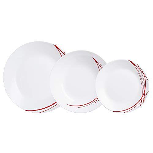 Arcopal Glazen servies voor 6 personen, 18 stuks, BPA-vrij, gemaakt in Frankrijk
