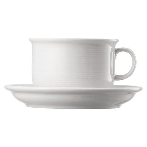 Thomas' Thomas Trend Set met 6 cappuccinokopjes en 6 schoteltjes 0,22 l, wit, porselein, 16 cm, 6 stuks