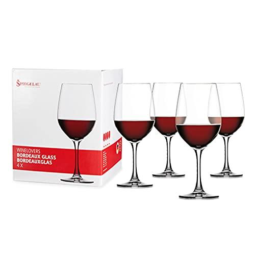 Spiegelau & Nachtmann , 4-delige Bordeaux glas set, kristalglas, 580 ml, Winelovers, 4090177