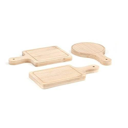 Kikkerland PM18 houder en standaard bestekinzetstukken, hout, 28,2 x 16,9 x 2,5 cm