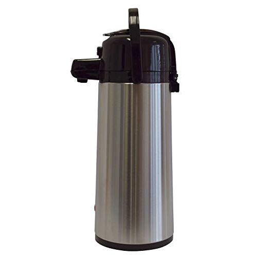 Melitta isoleerkan met pomp, 2,2 l, ca. 16 kopjes, glazen kolven, roestvrij staal, zilver/zwart.