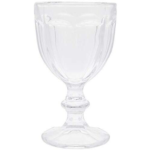 Better & Best Glaswerk 12 stuks water + 6 wijnglazen, versierd met galons, afmetingen 9 x 9 x 16 en 8 x 8 x 14, materiaal: glas