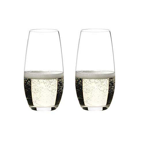"""RIEDEL , champagneglas""""O"""" set van 2, 0414/28"""