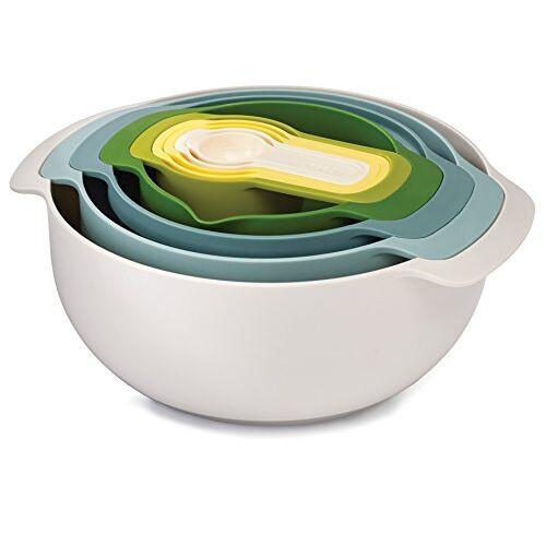 Joseph Joseph Nest Compact Voedsel Voorbereiding 9-Delige Kit, Opaal