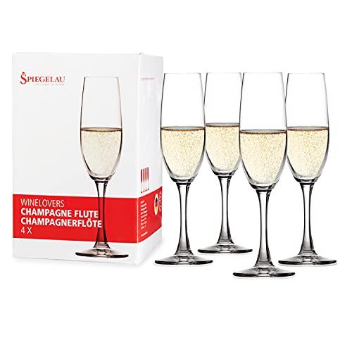 Spiegelau & Nachtmann , 4-delige champagnefluitset, kristalglas, 190 ml, Winelovers, 4090187