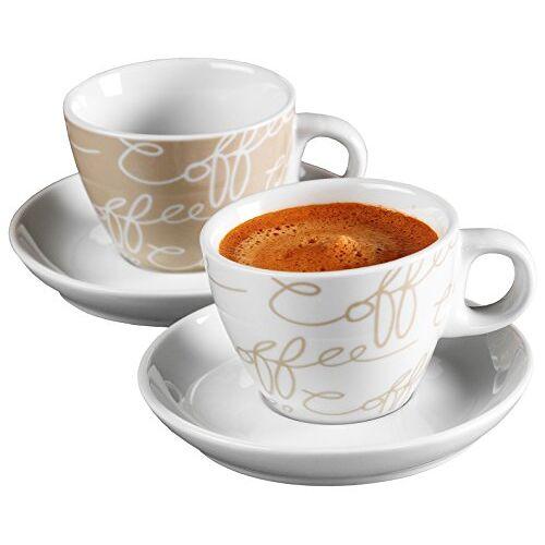 Ritzenhoff & Breker Espressoset Cornello, 4-delig, crème, 80 ml