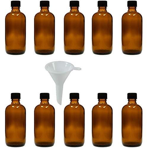 Viva Haushaltswaren Viva-Haushaltswaren 10 druppelflessen 10 ml/apothekersflessen met druppelinzet in bruin glas