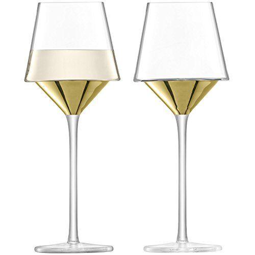 L.S.A. Wijnglas, Glas, Goud, 35 ml