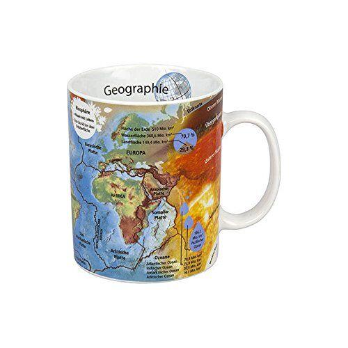 Könitz Beker Geografie, porselein, wit, 250ml